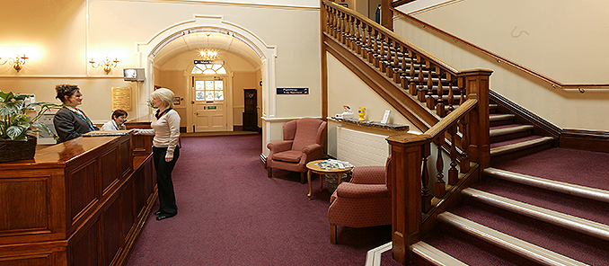 New Hall Hospital Reception